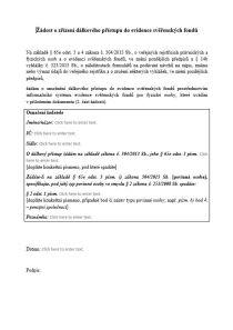 Žádost o zřízení dálkového přístupu do Evidence svěřenských fondů – Ministerstvo spravedlnosti (MS)