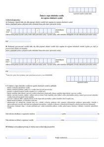 Žádost o zápis silničního vozidla do registru silničních vozidel – Ministerstvo dopravy (MD)