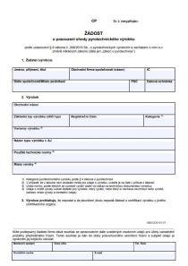 Žádost o posouzení shody pyrotechnického výrobku (CP) – Český úřad pro zkoušení zbraní a střeliva (ČÚZZS)