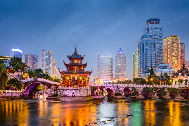 Jiaxiu pavilon na řece Nanming, Kuej-jang, Čína