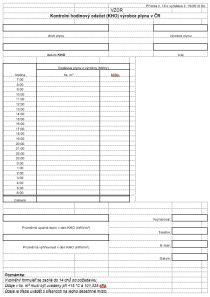 Kontrolní hodinový odečet (KHO) výrobce plynu v ČR - statistika pro MPO