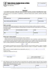Žádost o provedení odborných činností (OČ) – Český úřad pro zkoušení zbraní a střeliva (ČÚZZS)