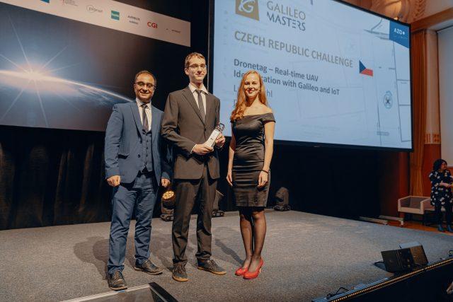 Lukáš Brchl a jeho tým získali se startupem Dronetag ocenění Galileo Masters