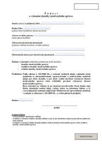 Insolvenční správce - Žádost o vykonání zkoušky insolvenčního správce