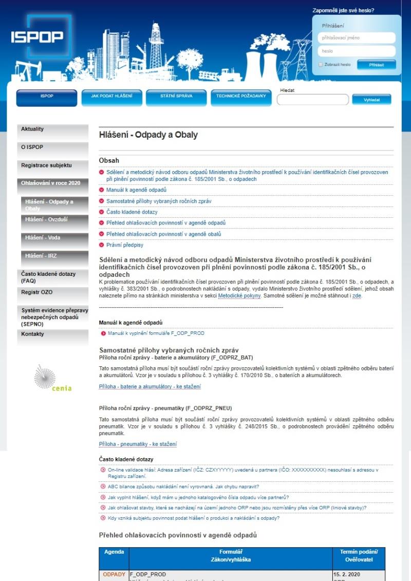 Evidenční list pro inventarizaci zařízení obsahujících PCB a odpadů PCB – Ministerstvo životního prostředí (MŽP)