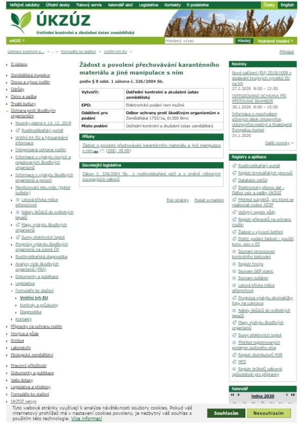 Žádost o povolení přípravku na ochranu rostlin – Ministerstvo zemědělství (MZe)