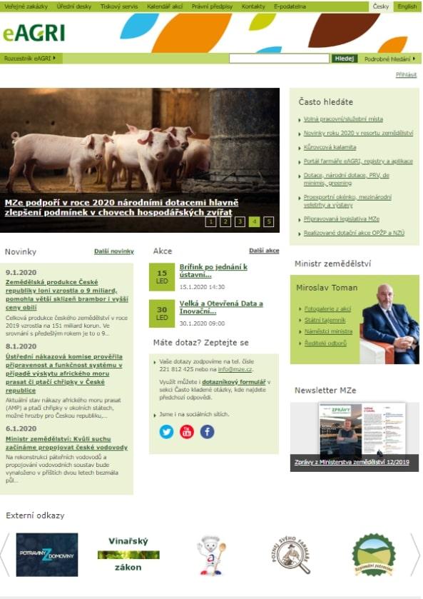 Veterinární osvědčení k vývozu z ČR do třetích zemí – Ministerstvo zemědělství (MZe)