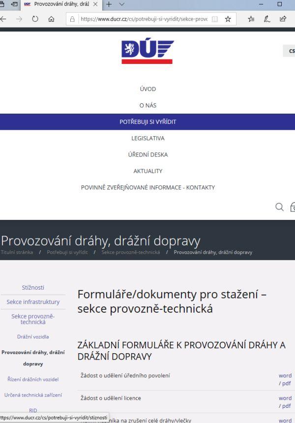 Evidenční přehled o nehodách (DÚ ČR)