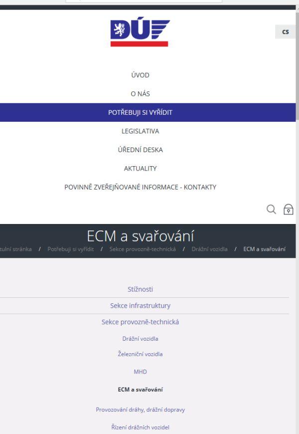 Žádost o osvědčení pro funkce údržby (DÚ ČR)