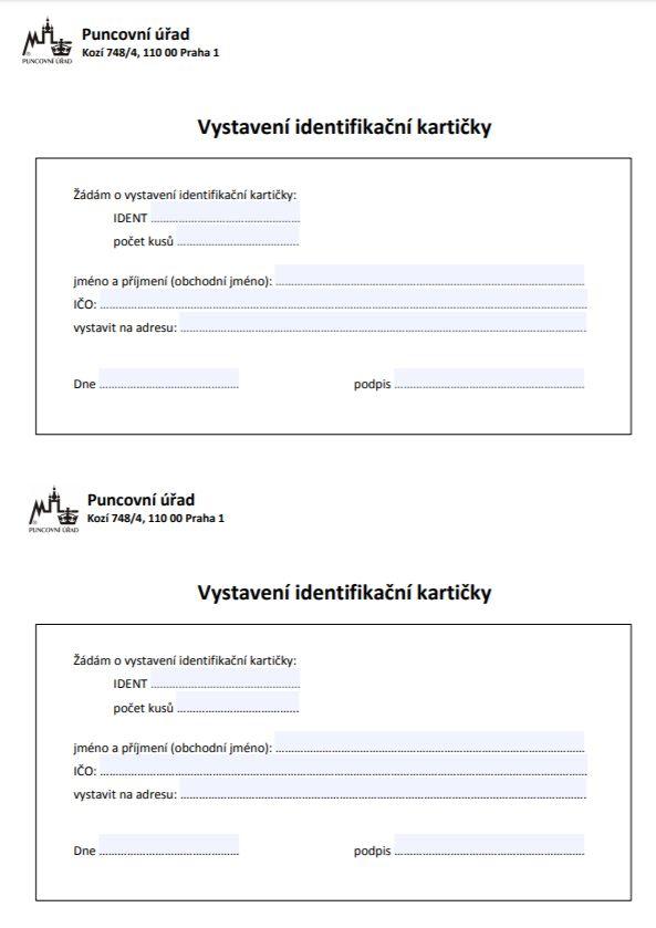Vystavení identifikační karty – Puncovní úřad