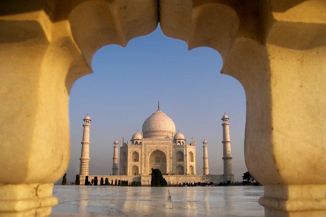 Palác Taj Mahal v indické Agře.