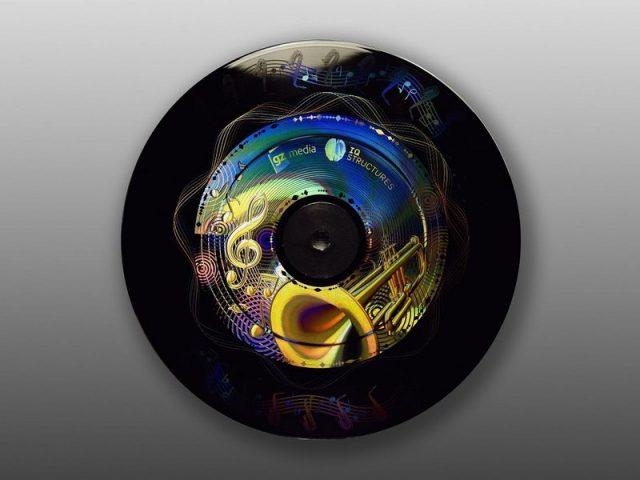 Vinylová deska s hologramem