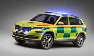 Kodiaq míří do Británie. Záchranáři si objednali osmnáct vozů