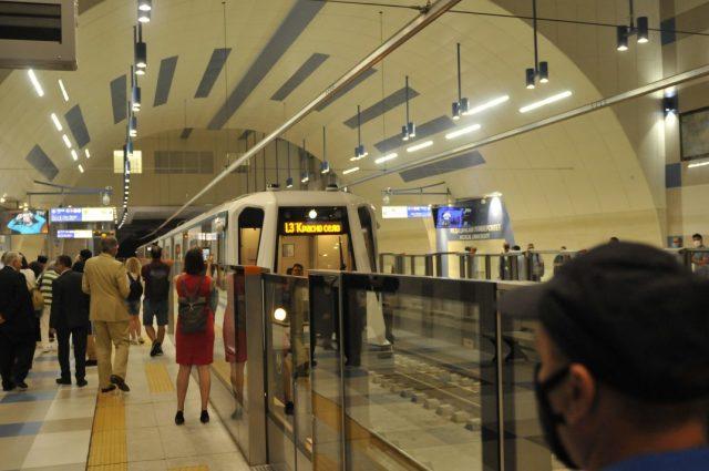 Stanice nově otevřené třetí linky sofijského metra