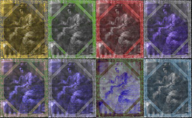 Fotografie barevné radiografie obrazu.