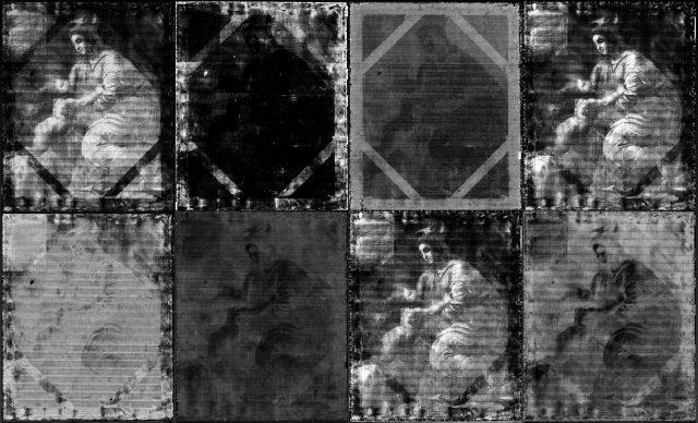 Fotografie spektrální radiografie obrazu.