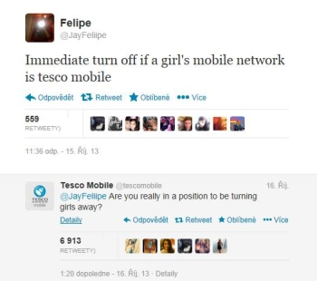 soc sitě tesco mobile twitter