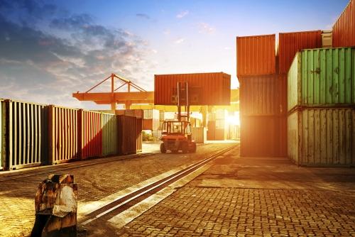 Export, překladiště kontejnerů
