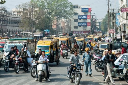 Indie, dopravní stiuace, New Delphi