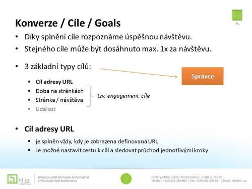 Přehled cílů konverze při online podnikání