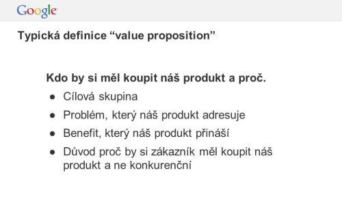 Definice výhod mé nabídky