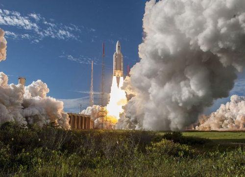 Start rakety s družicí Galileo. Foto: ESA