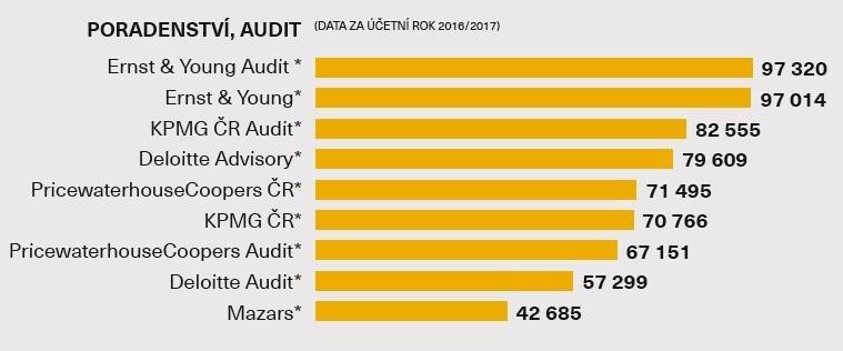 Průměrná hrubá mzda - Poradenství, audit