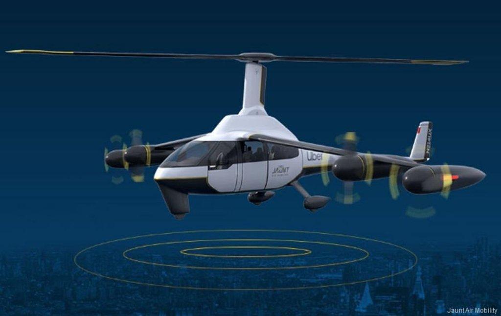 Vizualizace vírníku pro společnost Uber od firmy Jaunt Air Mobility, autor: Jaunt Air Mobility