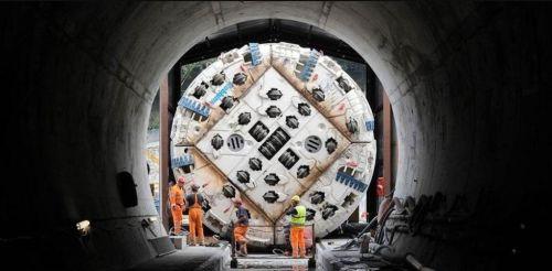 Razící stroj pro tunel. Foto: TELT