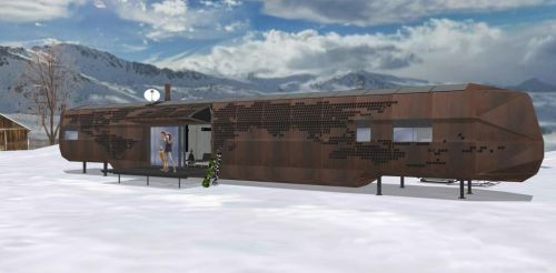 Jednou z možností využití energetického jádra NyrdenCore je v opuštěném vagónu. Zdroj: NyrdenCore