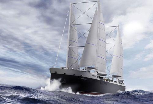 Francouzská plachetnice má mít kapacitu 500 osobních aut nebo 280 kontejnerů, autor: Mauric/Neoline
