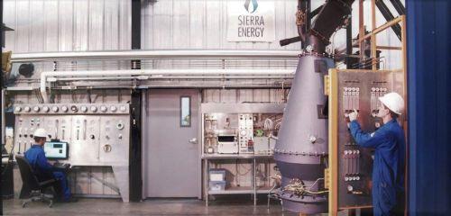 Zařízení Sierra Energy na rozkládání odpadu na molekuly pomocí extrémních teplot, autor: Sierra Energy