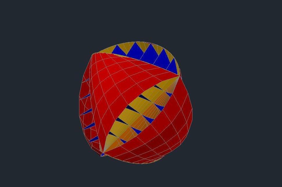 3D model větrné turbíny O-Wind. Zdroj: jamesdysonaward.org