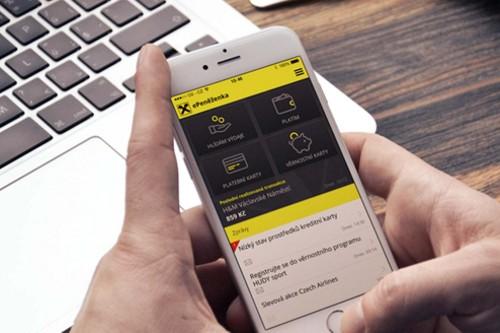 Mobilní aplikace pro banku vytvořená společností Bell & Hurry. Foto: Bell & Hurry