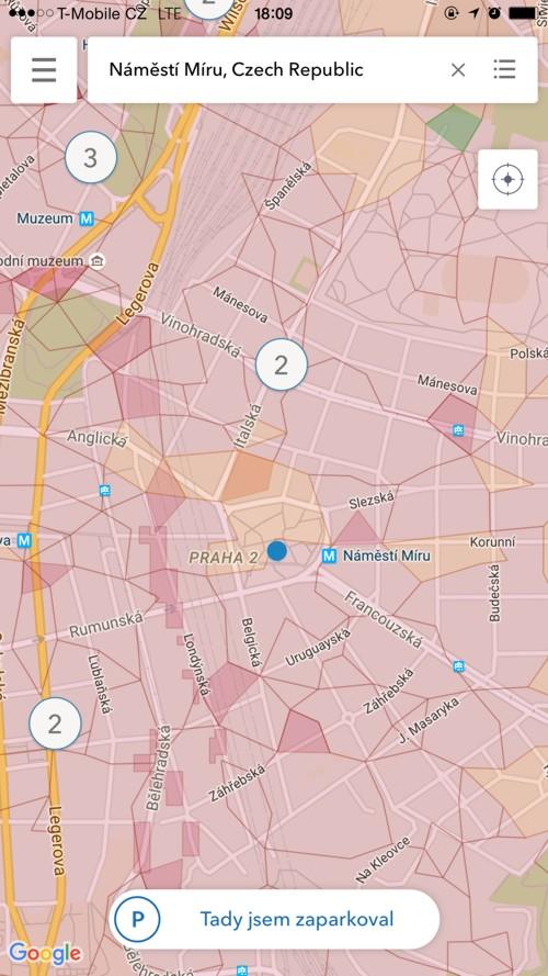 mapa eparkomat vyhledavani praha