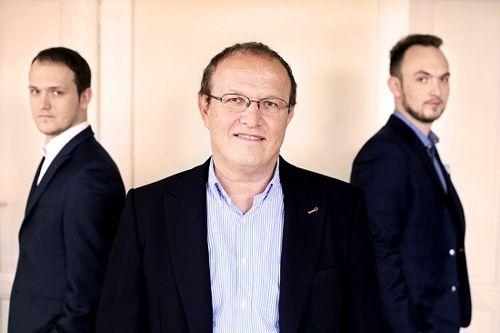 Zakladatel společnosti Gordic Jaromír Řezáč se svými syny. Foto: Gordic