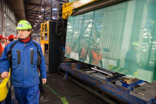Slavnostní otevření linky v  AGC Flat Glass Czech. Foto: Archiv AGC Flat Glass Czech a.s.