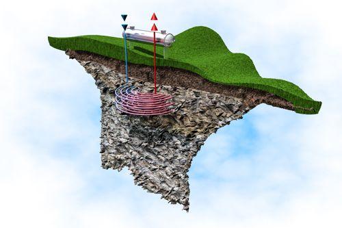 Schéma fungování geotermální elektrárny. Foto: Shutterstock.com