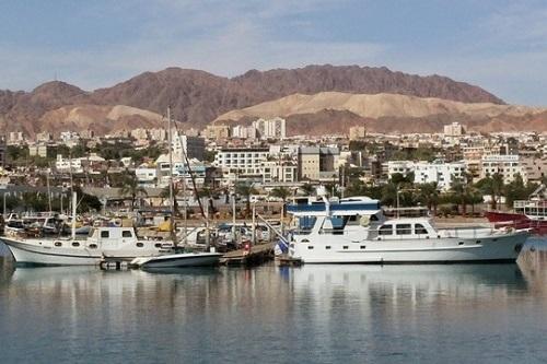 Foto přístavu v Izraeli