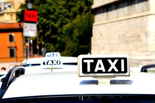 Foto taxi stanoviště
