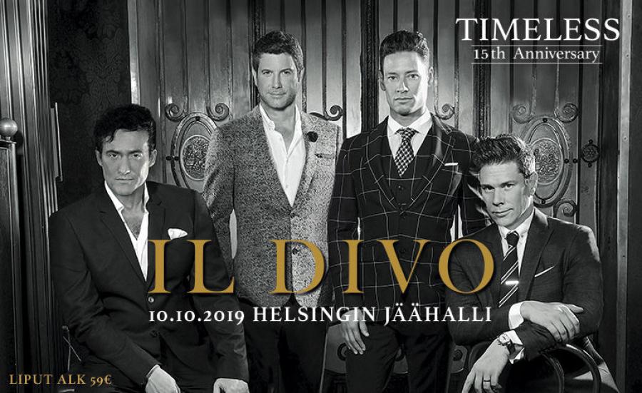 Il Divo 15 - vuotisjuhlakonsertti  Helsingin jäähallissa (kuljetus ja lippu) 1