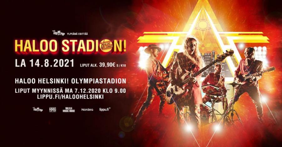 Kuljetus Haloo Helsinki! Olympiastadion keikalle. 1