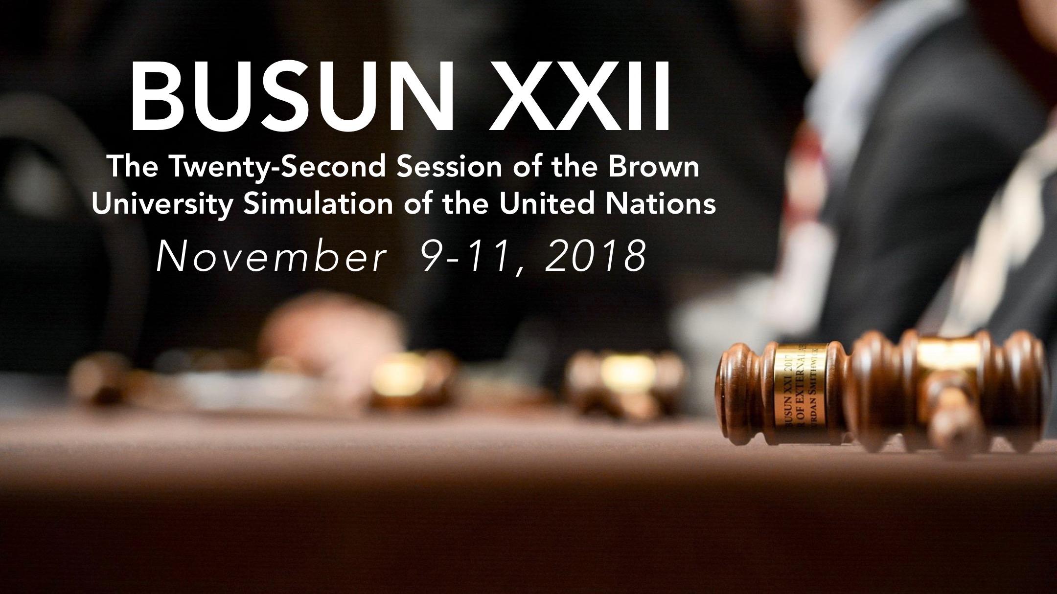 BUSUN XXII - November 9-11 2018