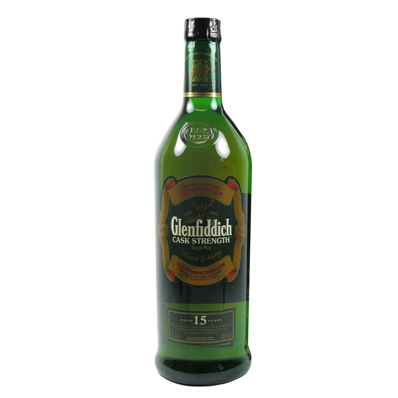 Whisky scotian, CASK STRENGTH 15 YEARS 1000ml, Glenfiddich
