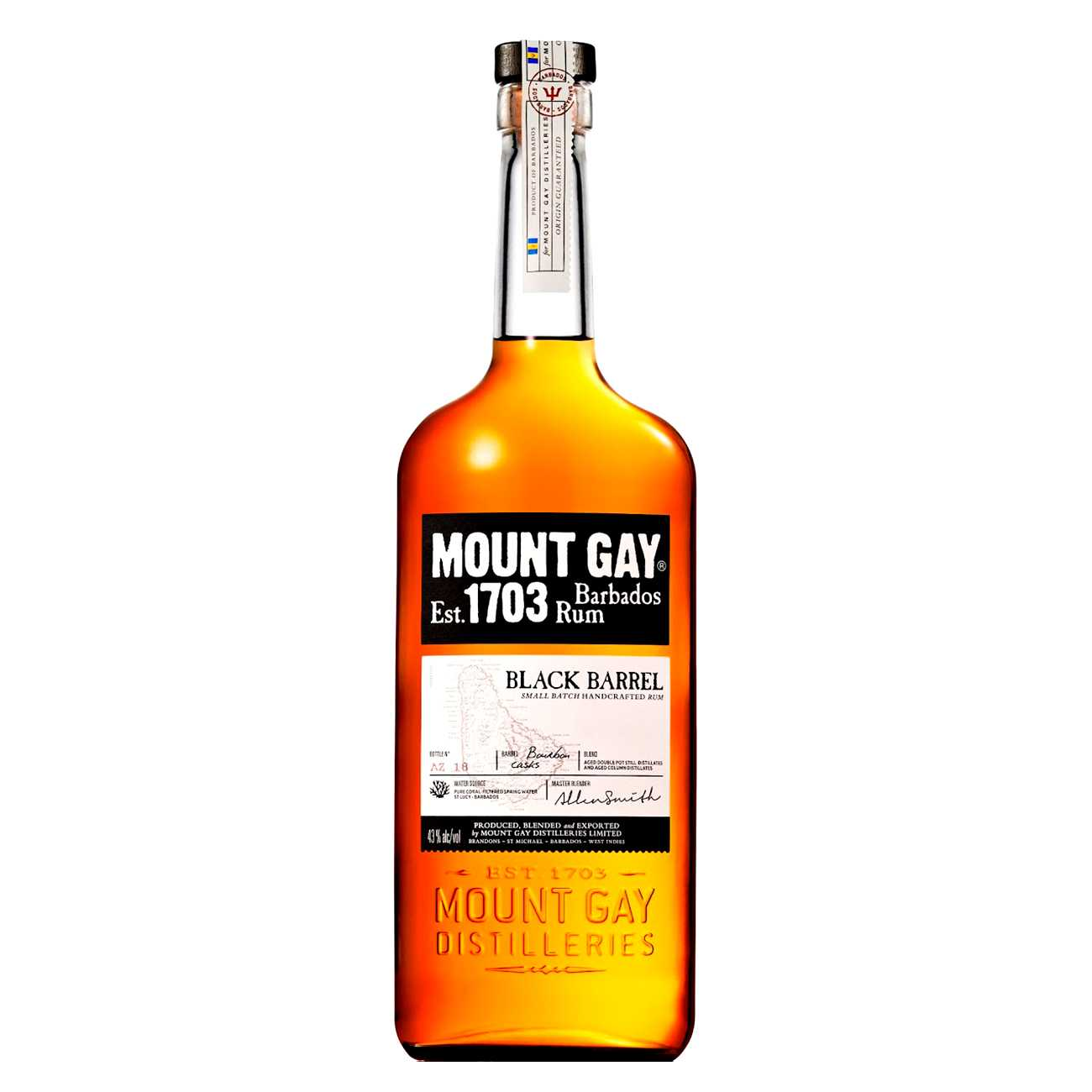 Rom, BLACK BARREL 1000 ML, Mount Gay
