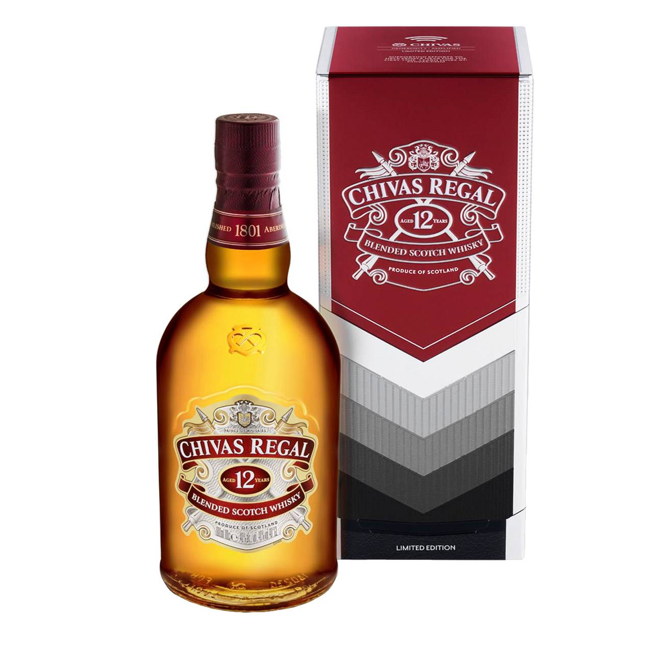 Whisky scotian, BLENDED SCOTCH 12 YEARS OLD LIMITED EDITION 1000 Ml, Chivas Regal