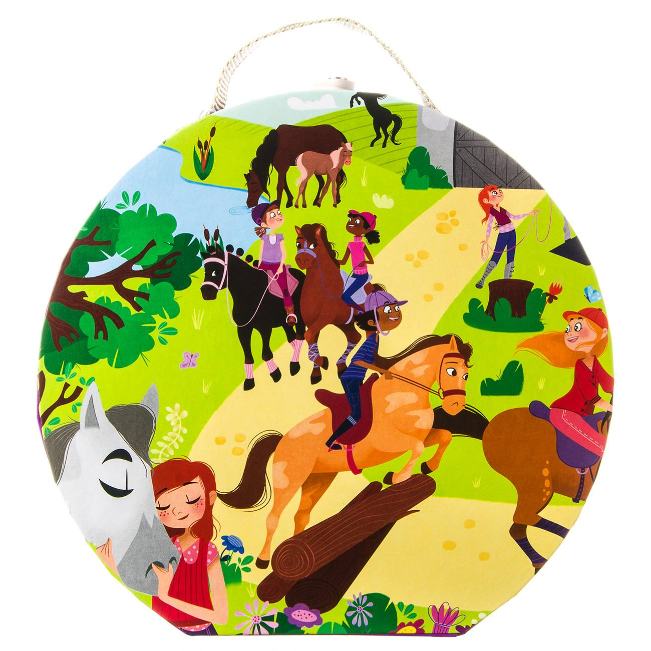 HAT BOXED PUZZLE 'HORSE RIDING SCHOOL