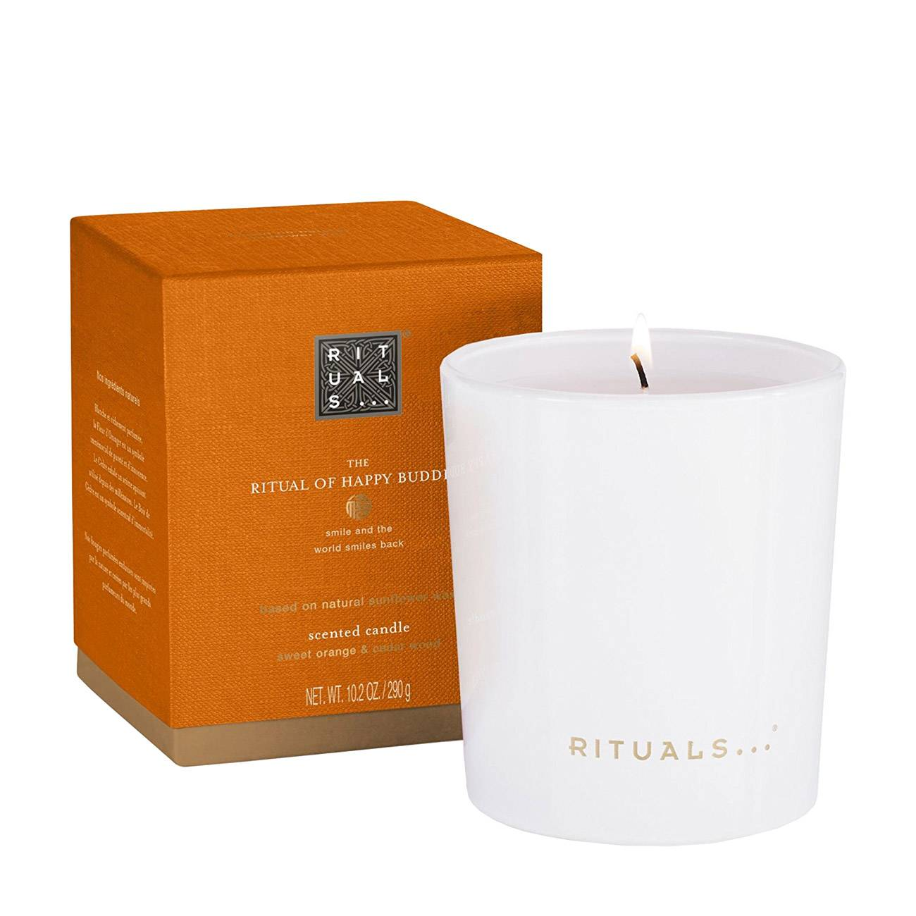 The Ritual Of Happy Buddha Scented Candle 290 Grame Rituals imagine 2021 bestvalue.eu