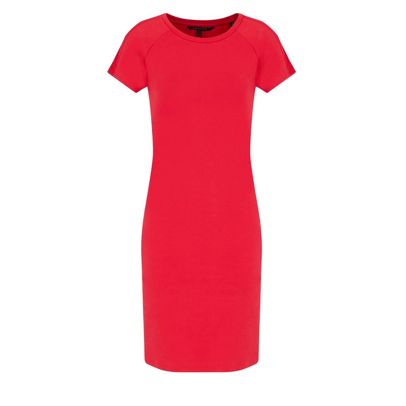 Mixed-cotton Sheath Dress M