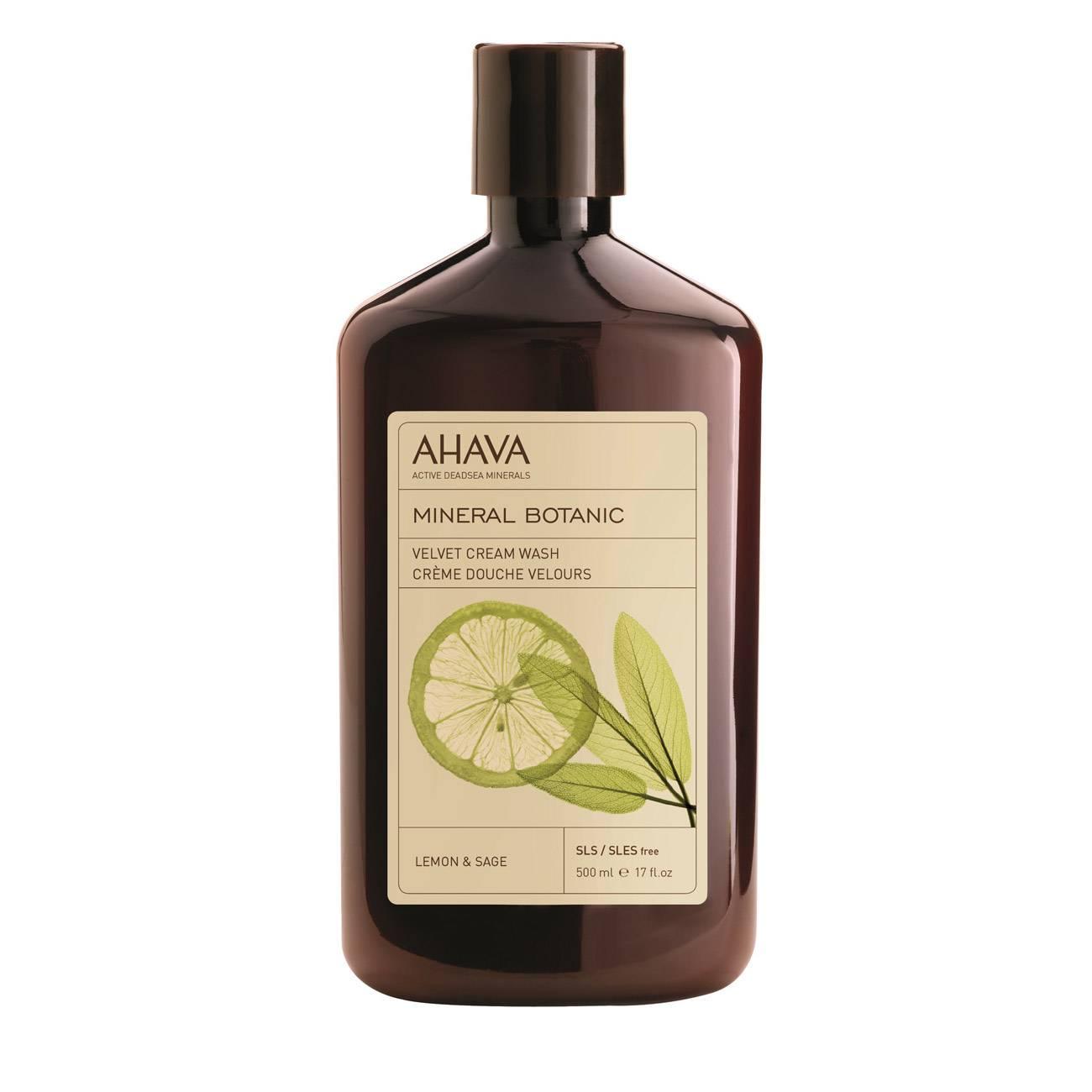 Mineral Botanic Cream Wash Lemon & Sage 500 Ml Ahava imagine 2021 bestvalue.eu